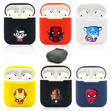 New TPU Silicone Bluetooth Wireless Earphone Case For AirPods Protective Cover Skin Accessories for Apple Airpods Charging Box