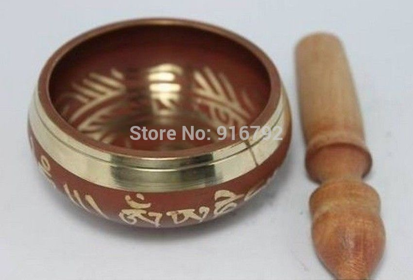 Free Shipping Tibet Chinese Old Copper Singing Buddha Bowl