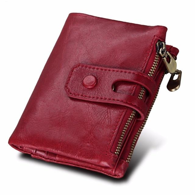 f2c46037165f 2018 Fashion Wallet Women Genuine Leather Wallets Female Hasp Double Zipper  Design Coin Purse ID Card