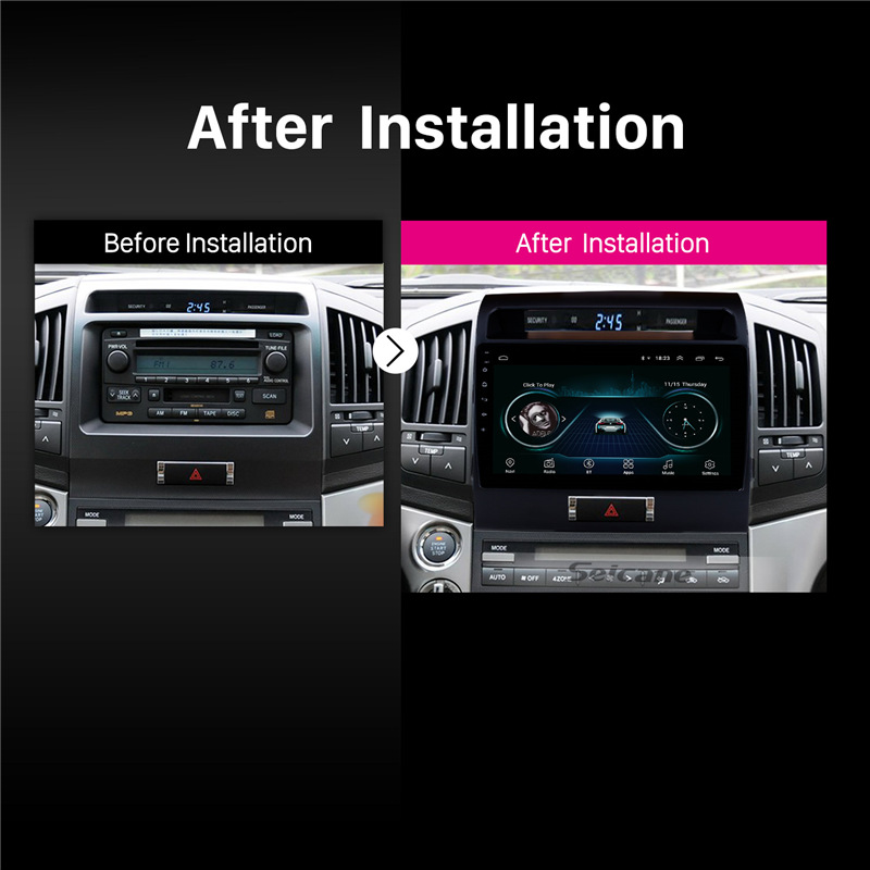 "Sale Seicane 10.1"" Android 8.1 car Radio GPS Navigation for 2007-2017 Toyota Cruiser FJ with Touchscreen Bluetooth OBD2 WiFi AUX SWC 5"