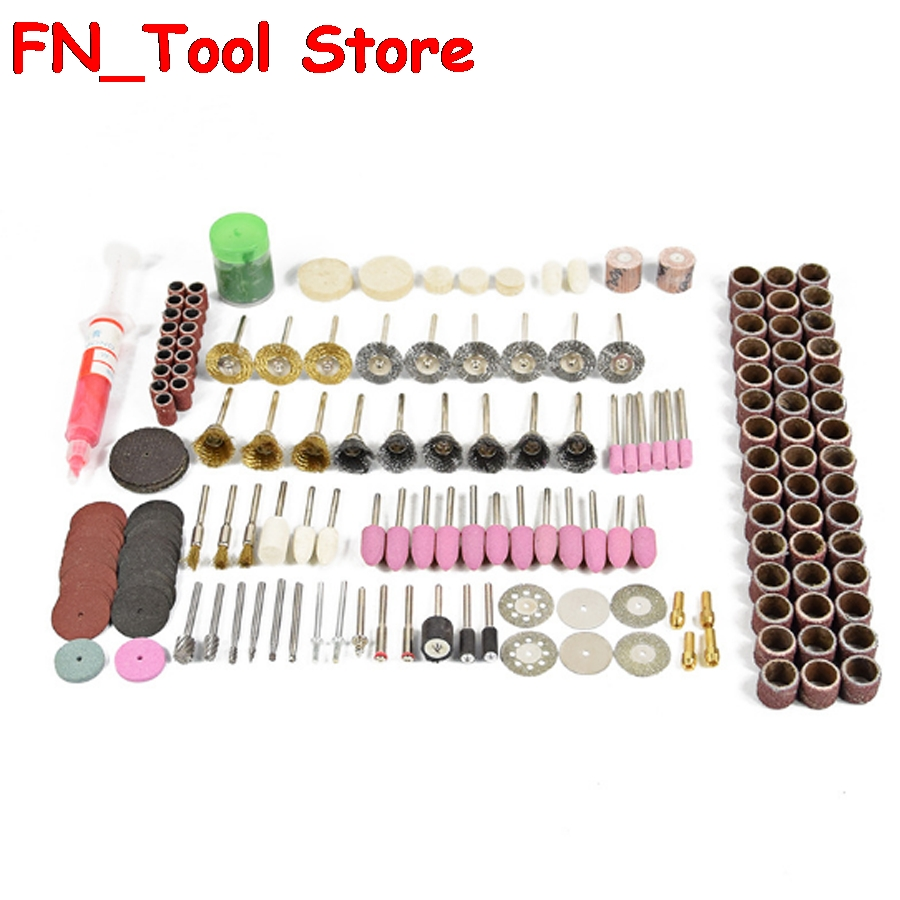 Professional 219pcs electric polishing and Cutting, drilling tools kit Electric grinding accessories for polishing and cutting