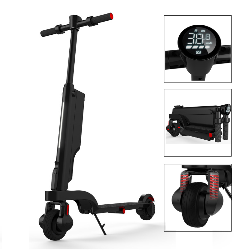 ultra small portable mini electric scooter foldable 2 wheel bluetooth speaker tricycle bike. Black Bedroom Furniture Sets. Home Design Ideas