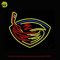Atlanta Thrashers NHL Sinal de Néon Neon Lâmpada Artesanais Tubo De Vidro Esportes Recreação Arcade personalizado Sinal Crânio Sign 20x24