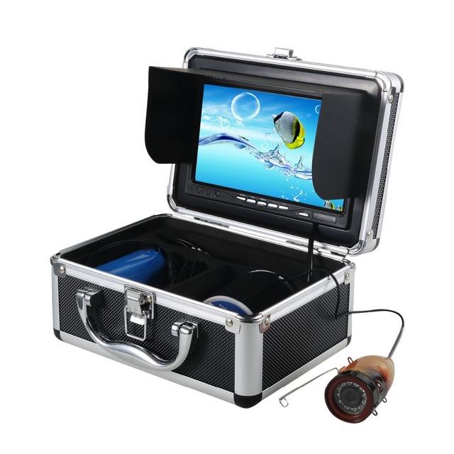 """15 m Cable 1000TVL Cámara Subacuática De la Pesca 7 """"TFT LCD Color Monitor IR LED Cámara de Vídeo Subacuática Pesca Buscador W2742A15"""