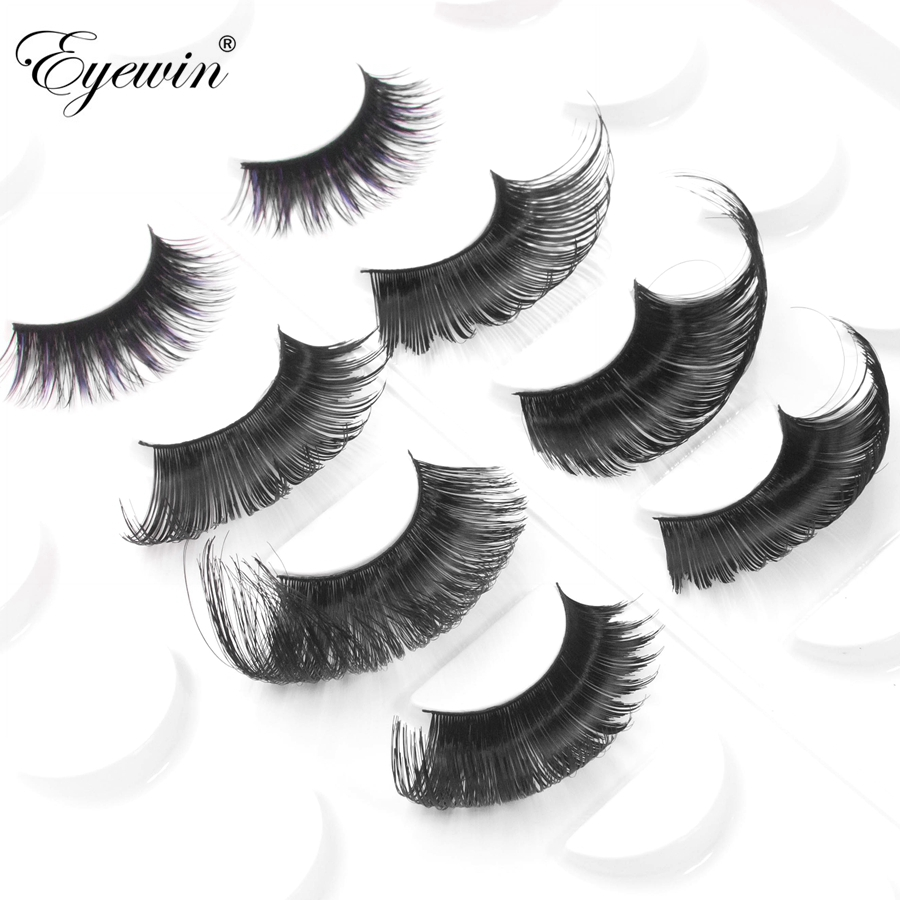 Eyewin False Eyelash For Drag Queen Full Strip Eyelashes Lash Maquiagem Makeup 3D Mink Lash Crossing Eyelash Dramatic  Cilios