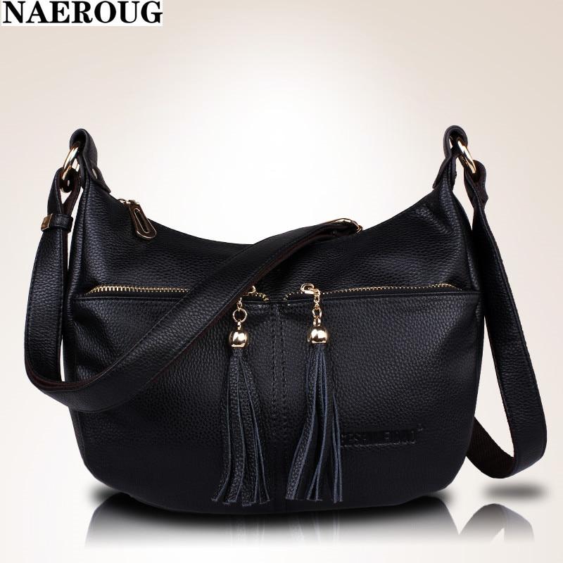 2016 Women Fashion PU Leather Women's Classic Tassel Bag 5 Colors Vintage High Quality Female Shoulder Bags Dolsas feminina