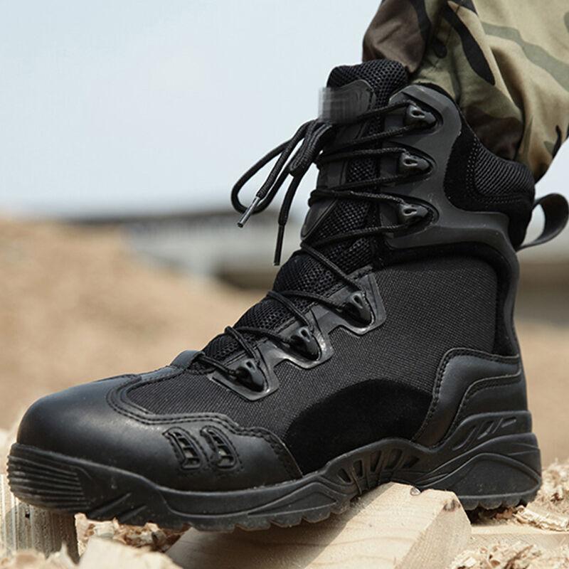 Militaire tactique soldat bottes pour hommes escalade Trekking chasse marche montagne Camo baskets homme randonnée chaussures plein air