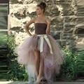 Sexy Falda de Tul Mujeres Alto Bajo tutu Faldas Para Dama Jupe con Piso Arco Largo Maxi saia longa Fiesta Formal de Encargo Falda hecho