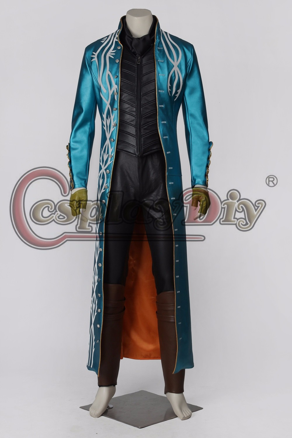 cosplaydiy devil may cry iii 3 vergil cosplay costume high quality adult men halloween outfit custom made d2602