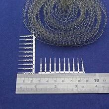 100pcs Dupont Male Pin Crimp Pin Jumper Terminal Connector Terminal Metal 2.54mm