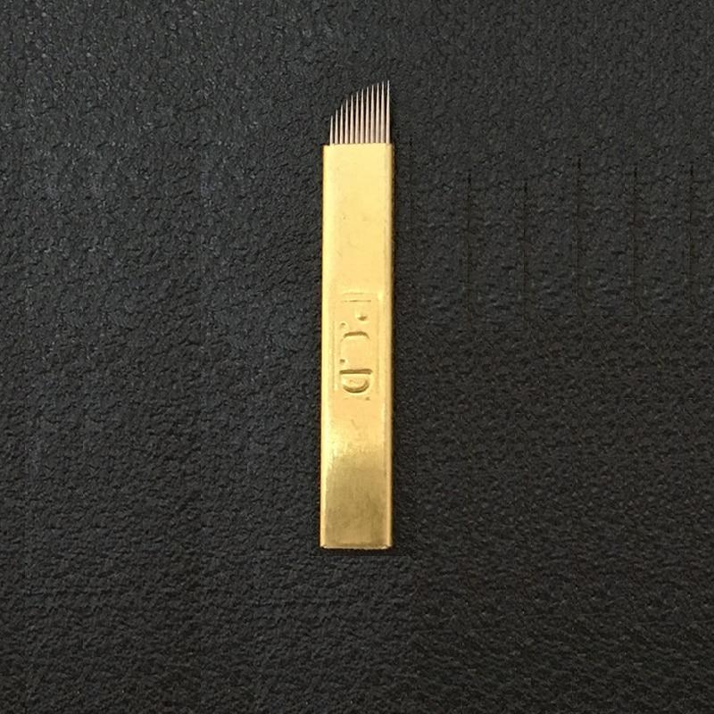 500 piezas PCD 12 pines lámina Nano hoja de 12 0,25mm maquillaje permanente Microblading aguja para Tobori pluma-in Agujas de tatuaje from Belleza y salud    2
