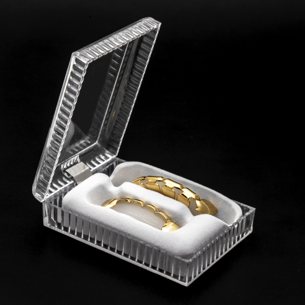 New Arrival Teeth Grillz Set Case Dust-proof Environmental Hygiene Box For Hip Hop Dental Grills Tooth Body Jewelry Fine Package