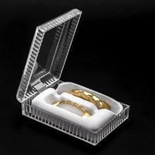 Grillz – boîte d'hygiène environnementale, étanche à la poussière, pour les grillades dentaires Hip Hop, bijoux pour le corps, emballage fin