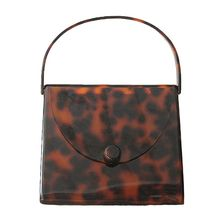 High Quality Acrylic Purse Leopard Pattern Design Banquet Handbag Evening Bag for Women stylish women s evening bag with leopard print and plaid design