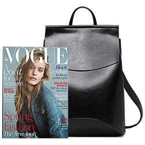 Image 2 - Mochila De piel de alta calidad para mujer, morral moderno de piel para chicas adolescentes, bolso de hombro de colegio