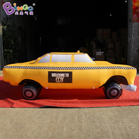 2X2 метра надувные такси шар, желтое такси надувные для украшения надувные игрушки