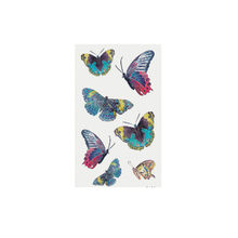 2019 Women's 3D Temporary Tattoo Sticker Waterproof Body Decals Fake tattoo Art Tatted Butterfly pattern Tattoo Sticker #YL5(China)