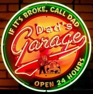 Image 1 - Barre de bière de signe de néon en verre de garage de papa personnalisé