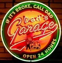 Custom Dad S Garage Glass Neon Light Teken Bier Bar