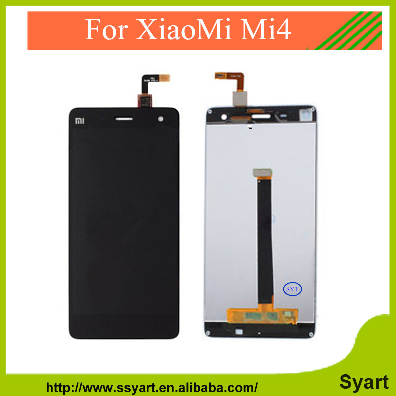 10PCS New Repair Parts For xiaomi mi 4 m4 mi4 LCD Display and Touch Screen Digitizer Replacement cell phone Black White