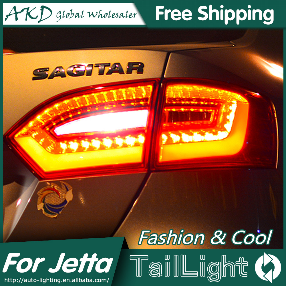 One-Stop Shopping Styling for VW Jetta Tail Lights 2011-2014 Jetta MK6 LED Tail Light LED Rear Lamp DRL+Brake+Park+Signal led tail light for vw jetta 5 2006 2010 rear light