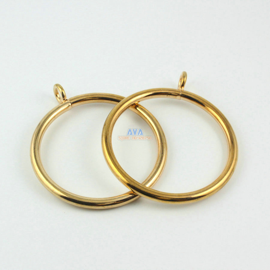 10 Pieces 55mm Gold Curtain Rings Curtain Sliding Hook Rings