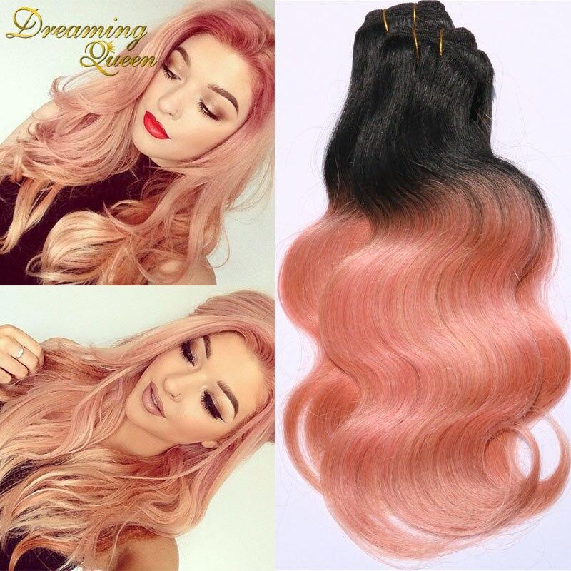 Trendiest color ombre brazilian virgin hair 3 pcs human for How to dye roses black