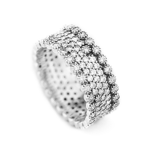 Image 4 - Authentic 925 Sterling Silver Rings for Women Clear CZ Lavish Engagement Wedding Ring Fashion Jewelry Accessories
