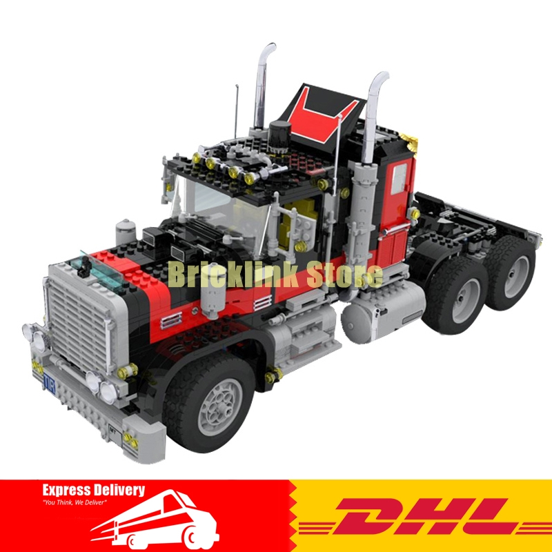 LEPIN 21015 1743Pcs Creative Technic Series The American Black Cat Truck Set 5571 Building Blocks Bricks Children Toys Gift building blocks single sale stephen curry american professional basketball player labron james bricks children gift toys kf406