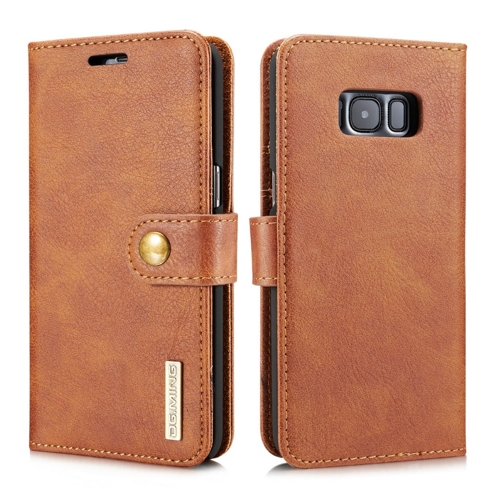 S8 Plus Genuine Leather Case 2 in 1 Wallet Cover Mobile Phone Bag for Samsung Galaxy S8/S8 Plus for Men Mobile Phone Stand Cases
