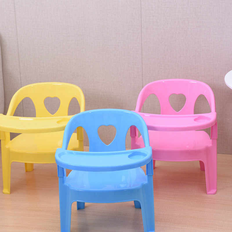 Children's dining chair back chair baby chair with armrests love chair thickening stool plastic stool
