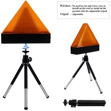 Car Triangle Flashing Warning Strobe Light Tripod Holder Auto Truck Safe Emergency Anti Collision Signal Beacon Lamps