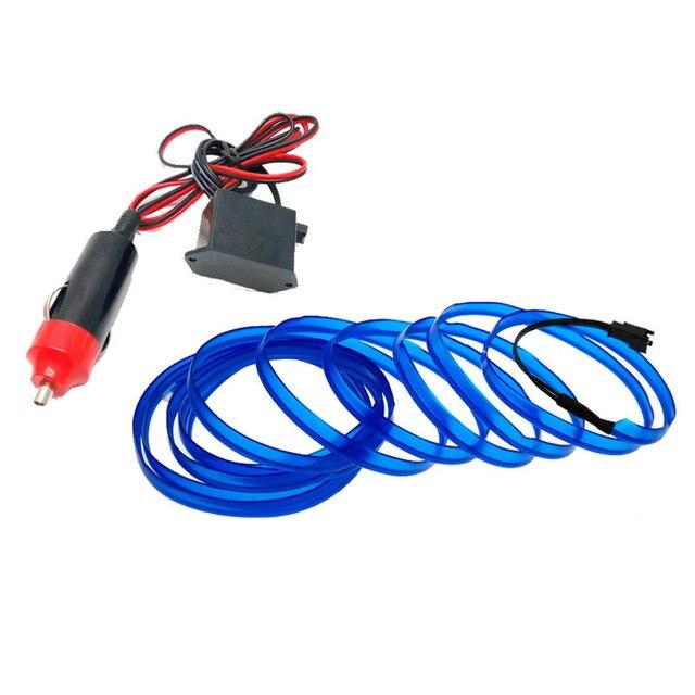 car lights 6mm Sewing Edge Neon Light Car Decor Lighting Flexible EL ...