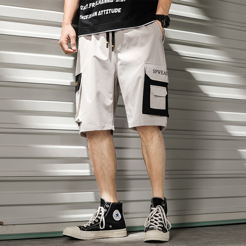 Men Shorts Sweat Hip Hop Streetwear Summer Military Cotton Mens Bermuda Shorts M-XXXL 2019 Cargo Loose Men Sweat Shorts