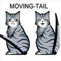 3 estilos de 2016 Vendas Quentes Dos Desenhos Animados Engraçados Do Gato Cauda Movendo Adesivos Reflexivos Adesivos de Carro Decalques Da Janela Limpador car styling acessórios auto