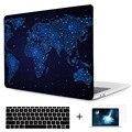 Карта мира звездное небо ноутбук рукав для macbook pro 2016 a1706/a1708 крышка печати кристалл прозрачный чехол для macbook pro 15 a1707 случае