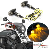 Mini motos LED Turn signal Luz Emark E11 Bala Blinker Indicator Light Para Harley Chopper Cafe Racer Street Motos Esportivas|  -