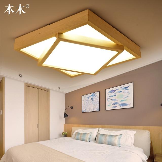 Neue Aufbau Führte Deckenleuchten Holz Moderne Leuchten Für Wohnzimmer  Esszimmer Schlafzimmer Led Deckenleuchte 220 V