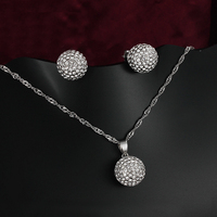 GALAXY Brand Real White Gold Filled Wedding African Beads Jewelry Set Filling CZ Diamond Necklace Earrings
