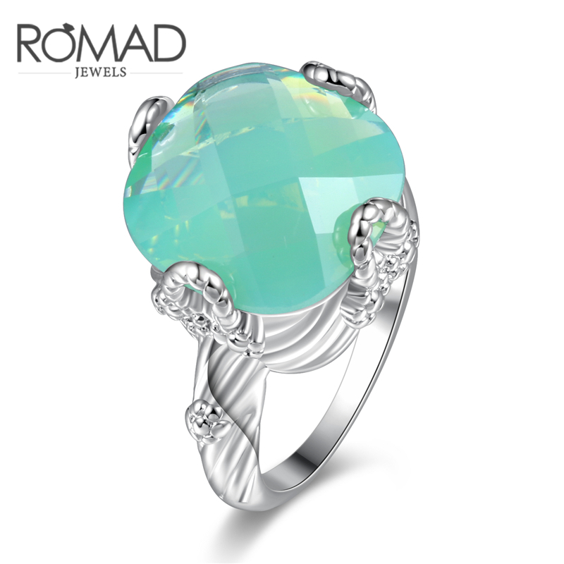 Green Protein Ring Creative Fashion Ring Size 6 7 8 9 10 for Women Simple High-end Fashion Jewelry All Match