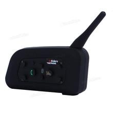 Nuevo Casco Vnetphone Auriculares Casco de La Motocicleta V6 1200 M Inalámbrica Bluetooth Intercom para 6 Riders Interphone Teléfono MP3 GPS