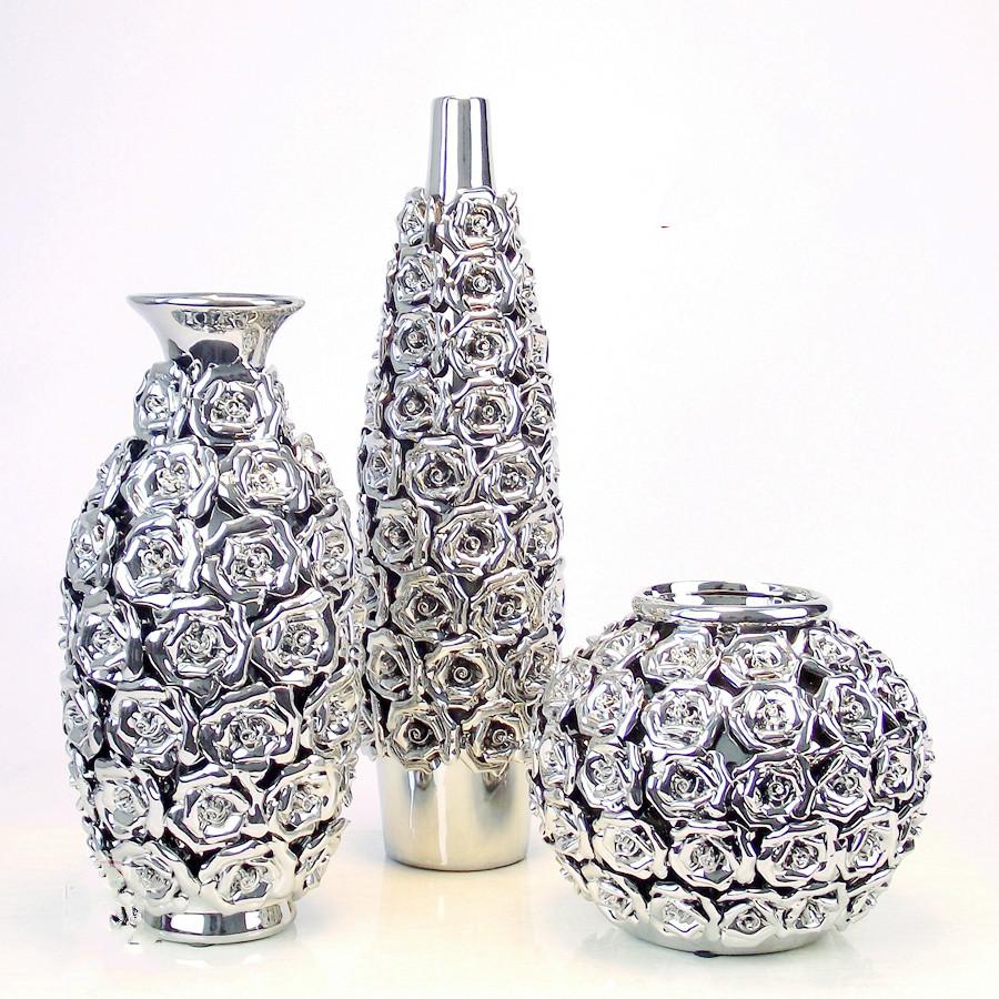 Buy 15 40 cm ceramic gold silver vase of for Decoration vase