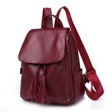 Fashion 2019 Women Backpacks Women's Leather Backpacks Female school backpack Ladies Shoulder bags for teenage girls Travel Bags цены