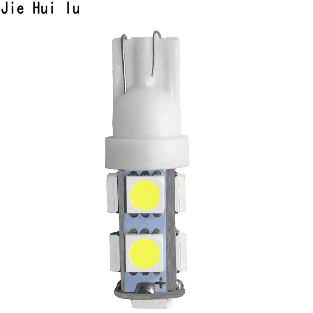 1PCS T10 <font><b>W5W</b></font> <font><b>LED</b></font> 194 168 5050 9 SMD Car Auto Wedge Side Tail Parking Lights Bulb Lamp Clearance Lighting DC12V image