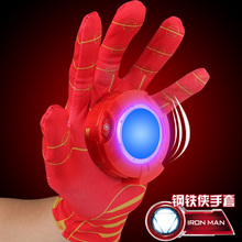 Newest Iron Man Toys Anime The Avengers Ironman Glove Emitter Sound Light Action Figures Creative Toys Chirstmas Gifts