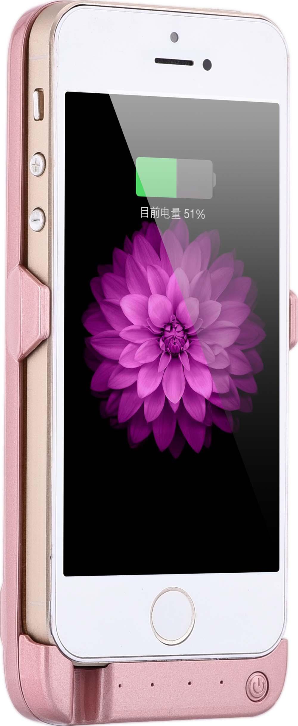 imágenes para Recién llegado de caso de la energía de baterías de teléfono prolongada para apple iphone 5 5s se 4200 mah powerbank de carga cubierta con bipedestador