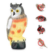 Hunting Ornament Realistic Plastic Owl Decoys With Rotating Head Good Tackle Crow Bird Scarer Scarecrow Car Garden Docoration