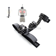 BDSM Bondage Gear Collar Waist Connection Strap with Wrist Cuffs Restraints Tied From Back Belt Fetish Sex Play for Couples