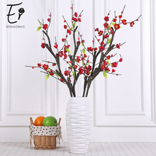 Erxiaobao 1 Piece Prunus Mume Meiren Plum Blossom Artificial Flowers Fake Silk Fower Home Table Party Wedding Decor Gift