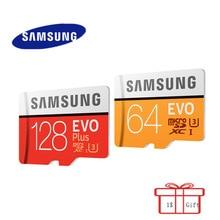 Original SAMSUNG MicroSD Card Flash Memory Card 64GB 128GB  32GB 16GB 100M/s EVO Plus Class10 TF Card SDHC SDXC for phone Gift